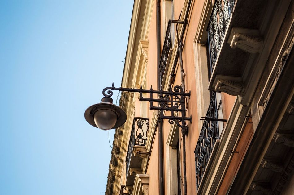 Low Angle View Clear Sky No People Built Structure Building Exterior Architecture Outdoors Day House Cagliari Urban City Cagliari Capitale Europea Della Cultura Lamp Tourism Sardegna Sardinia Italy Italy Amazing Sky Summer Travel Traveling Travel Photography EyeEm EyeEm Best Shots EyeEm Nature Lover