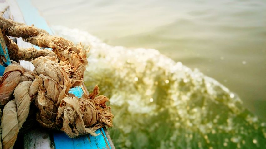 Rope Sea Boat Water Ganga Popular Photos Beautiful