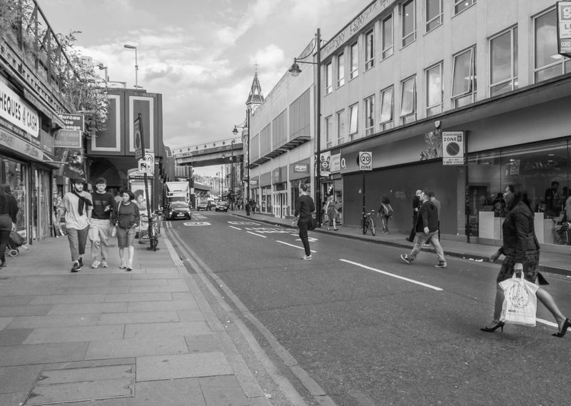 EyeEm LOST IN London Large Group Of People Real People Architecture Brixton London Building Exterior Women Transportation Streetphotography Street People EyeEm Masterclass