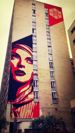 Streetphotography Streetart Painting Building OBEY Shepard Fairey