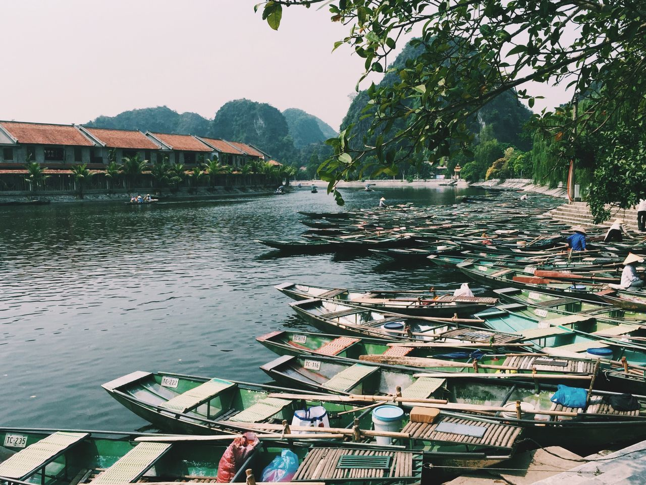 in Vietnam. Traveling Travel Ninhbinh Vietnam Wanderlust River Boats Mountains Floating Saigonese