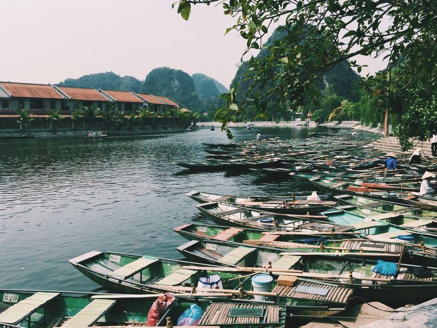 in Vietnam. Traveling Travel Ninhbinh Vietnam Wanderlust River Boats Mountains Floating Saigonese