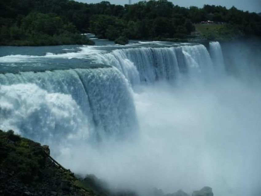 Power In Nature Niagara Falls NY Niagara Falls Tranquil Scene Travel Destinations Mist Wave Motion Waterfall Outdoors Scenics Beauty In Nature Nature Water