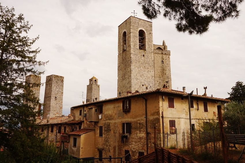 MedievalTown Europe Trip No People San Gimignano Tower Italy Landscape