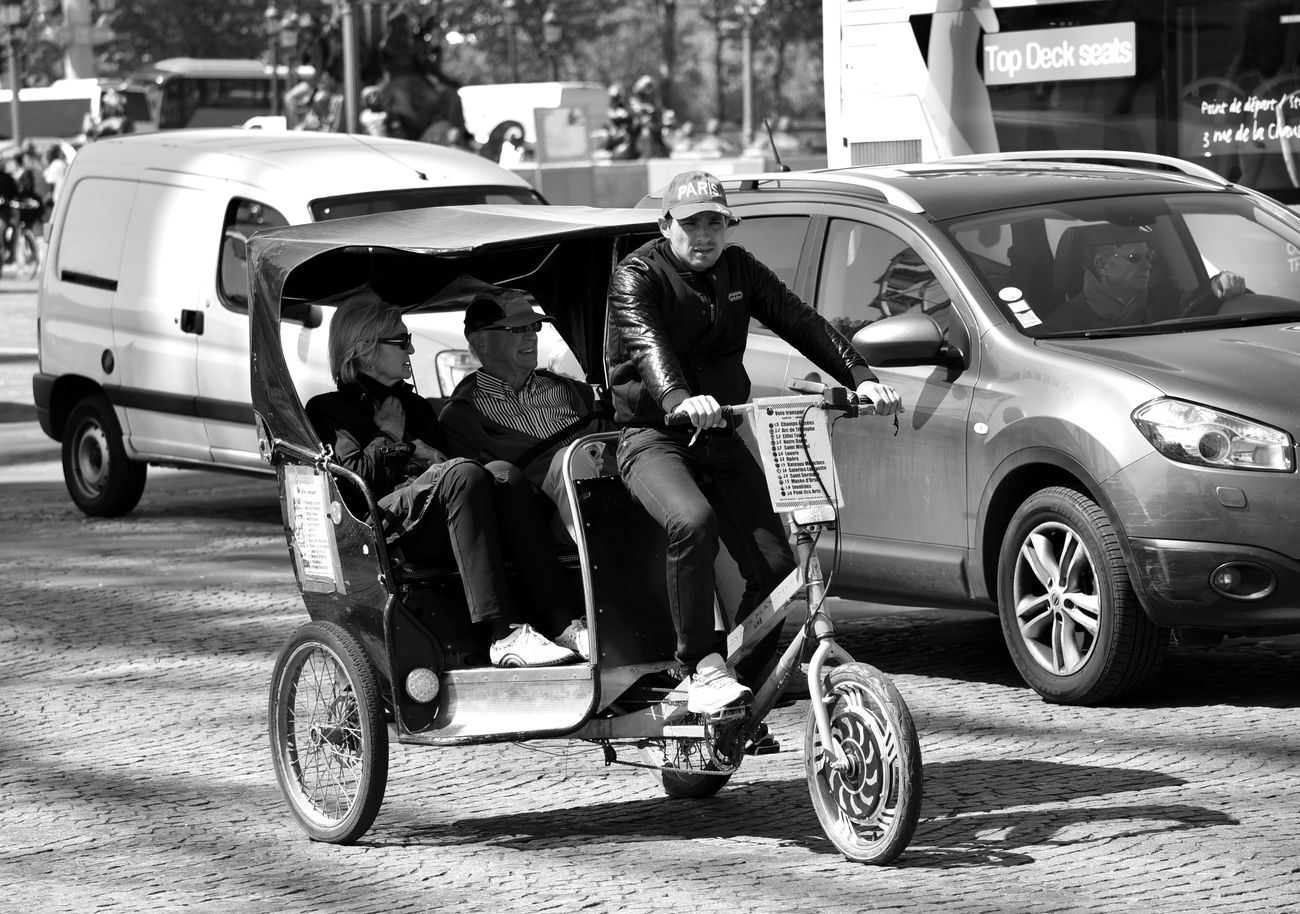 Paris'tuktuk Adult Car Mode Of Transport Paris, France  Real People Road Street The Street Photographer - 2017 EyeEm Awards Transportation