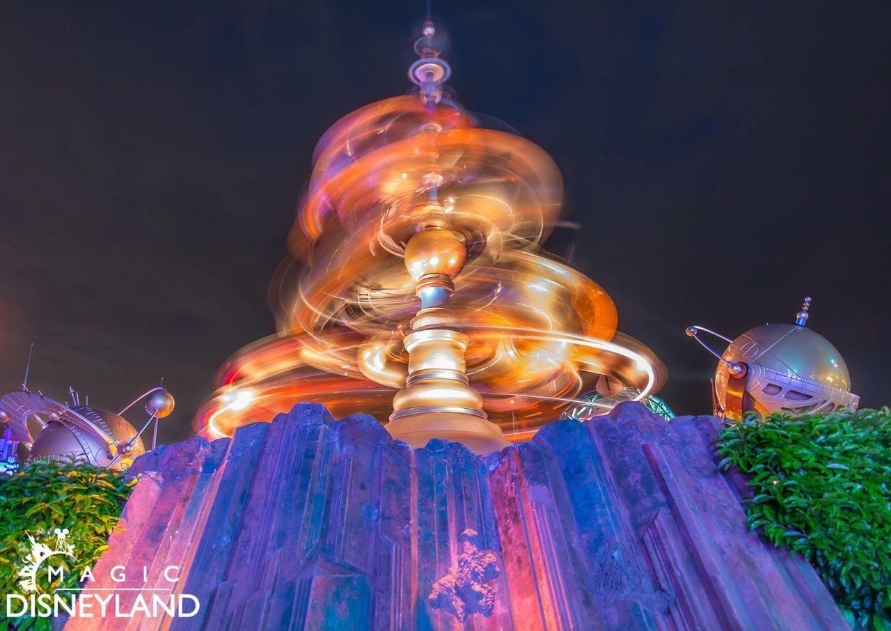 Night Illuminated Low Angle View Multi Colored Performance Amusement Park Disneyland Resort Paris Disneyland Paris Disneyland Disney Disneylandparis