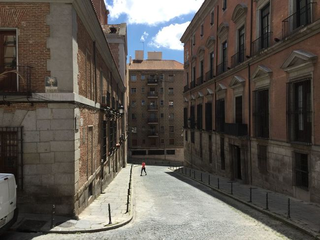 Architecture Built Structure Building Exterior Street Road Sky The Way Forward City Day Long Cloud Outdoors Narrow Cloud - Sky City Life Diminishing Perspective Surface Level SPAIN