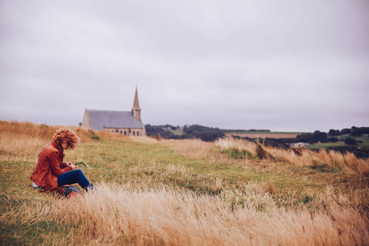 Church Cloudy Curly Hair Field Focus On Foreground Getting Away From It All Girl Grass Grassy Hay Landscape Outdoors Plaiting Grass Rural Scene Tranquility Windy Women Who Inspire You Let Your Hair Down The Great Outdoors With Adobe The Great Outdoors - 2016 EyeEm Awards People And Places Exploring Style Break The Mold TCPM Breathing Space Been There. Done That. Lost In The Landscape Connected By Travel Fashion Stories An Eye For Travel