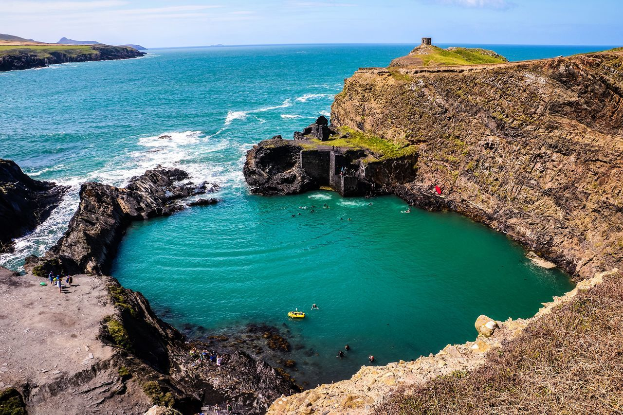 Beauty In Nature Cliff Idyllic Nature Pembrokeshire Pembrokeshire Coast Sea Wales Wales You Beauty Wales❤ Water