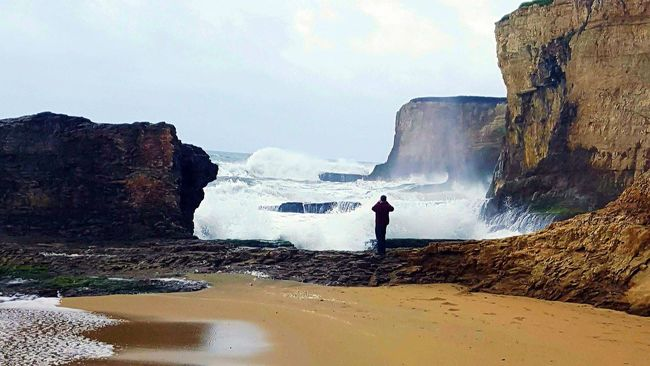 Power Ocean Pacific Ocean Pacific Coast Clouds Storm Man Vs Nature Beautiful Beautiful Nature Myhappyplace My Perspective Livelaughlove♡ Cliffs Beach