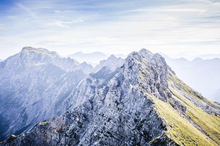Alps Beauty In Nature Blue Sky Climbing Hiking Landscape Majestic Mountain Mountain Peak Mountain Range Mountain View Mountains Nature Outdoors Snowcapped Mountain Wanderlust First Eyeem Photo