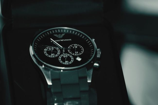 Number Close-up Wristwatch Selective Focus Watch Armani Armani❤ Armani Watch On Deck Eyeemphotography Eyeemphoto Eyeem Photography