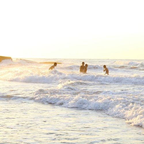 Beach Wave Freedom Vacations Fun Friendship Outdoors People First Eyeem Photo