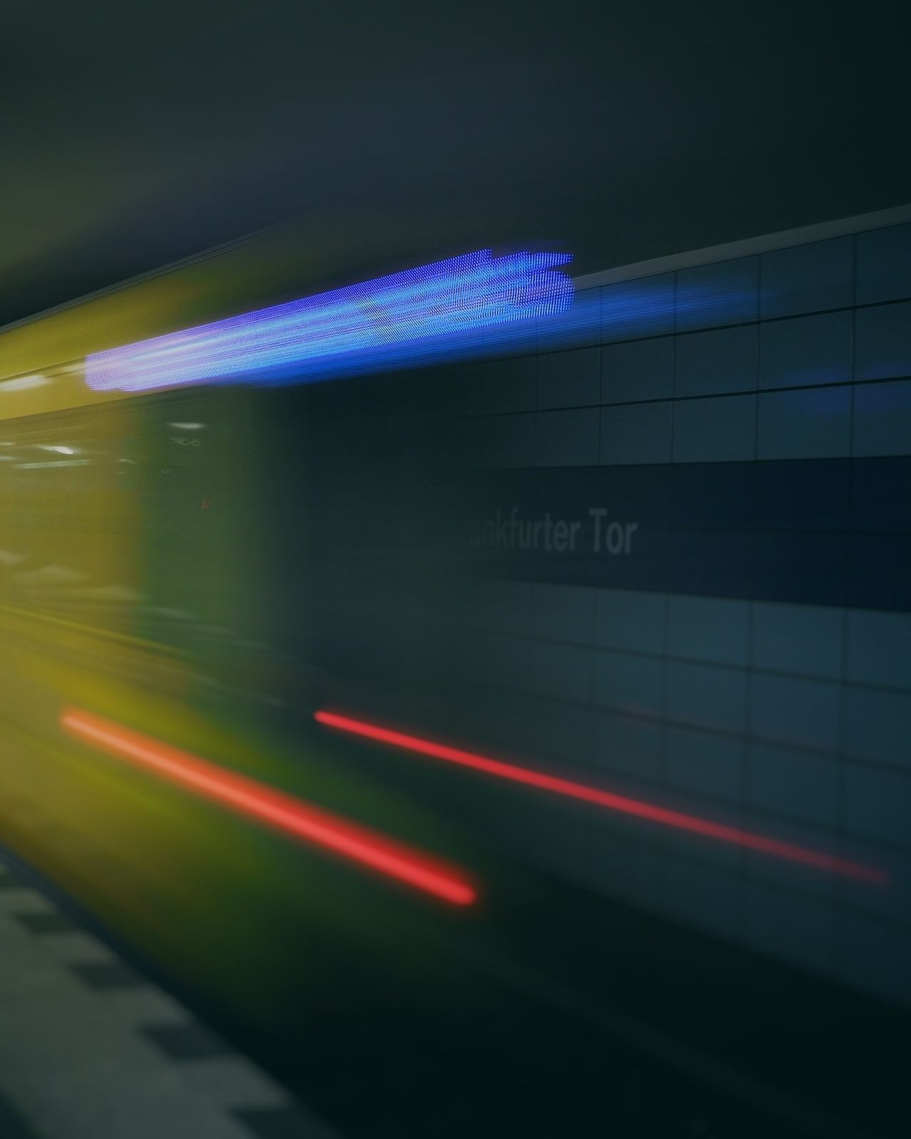 Speed Illuminated Abstract Purple No People Indoors  Night Neon Tunnel Close-up Ubahn Berlin Train Speeding Motion Blur