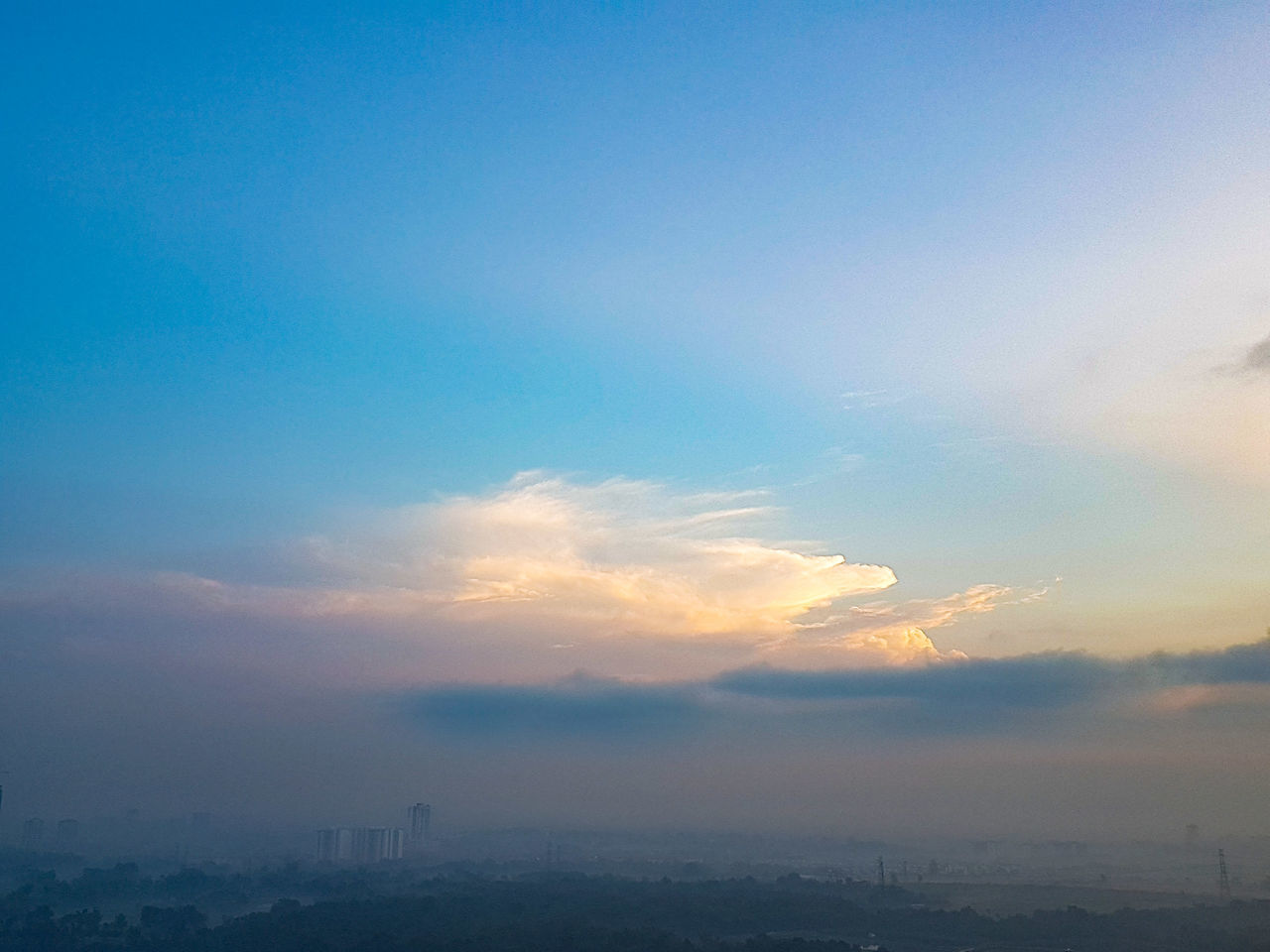 Cloud - Sky Sky Business Finance And Industry Sunset Social Issues City Tranquility Blue Travel Outdoors Environmental Issues Nature Journey No People Ethereal Awe Travel Destinations Day Urban Skyline Beauty In Nature Malaysia Johor Bahru