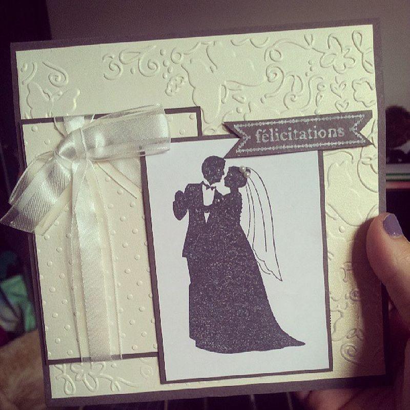 @vaniishh ♡♡♡ merciiiii elle est magnifique !!! Card Greetingcard Weddingcard Wishes love congrats congratulations wedding happy