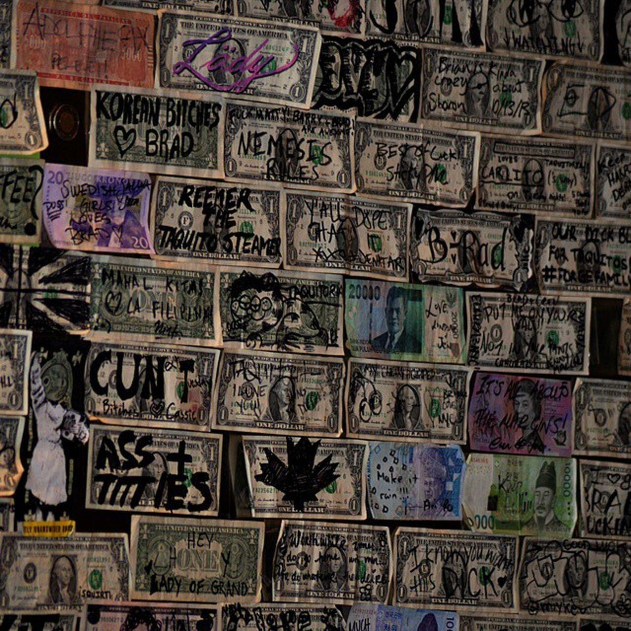 a Dollar wall in a Bar in Manhattan New York..... Money Moneywall Neat Cool RAD Interesting Newyork NY Manhattannewyork Citylife Eastcoast