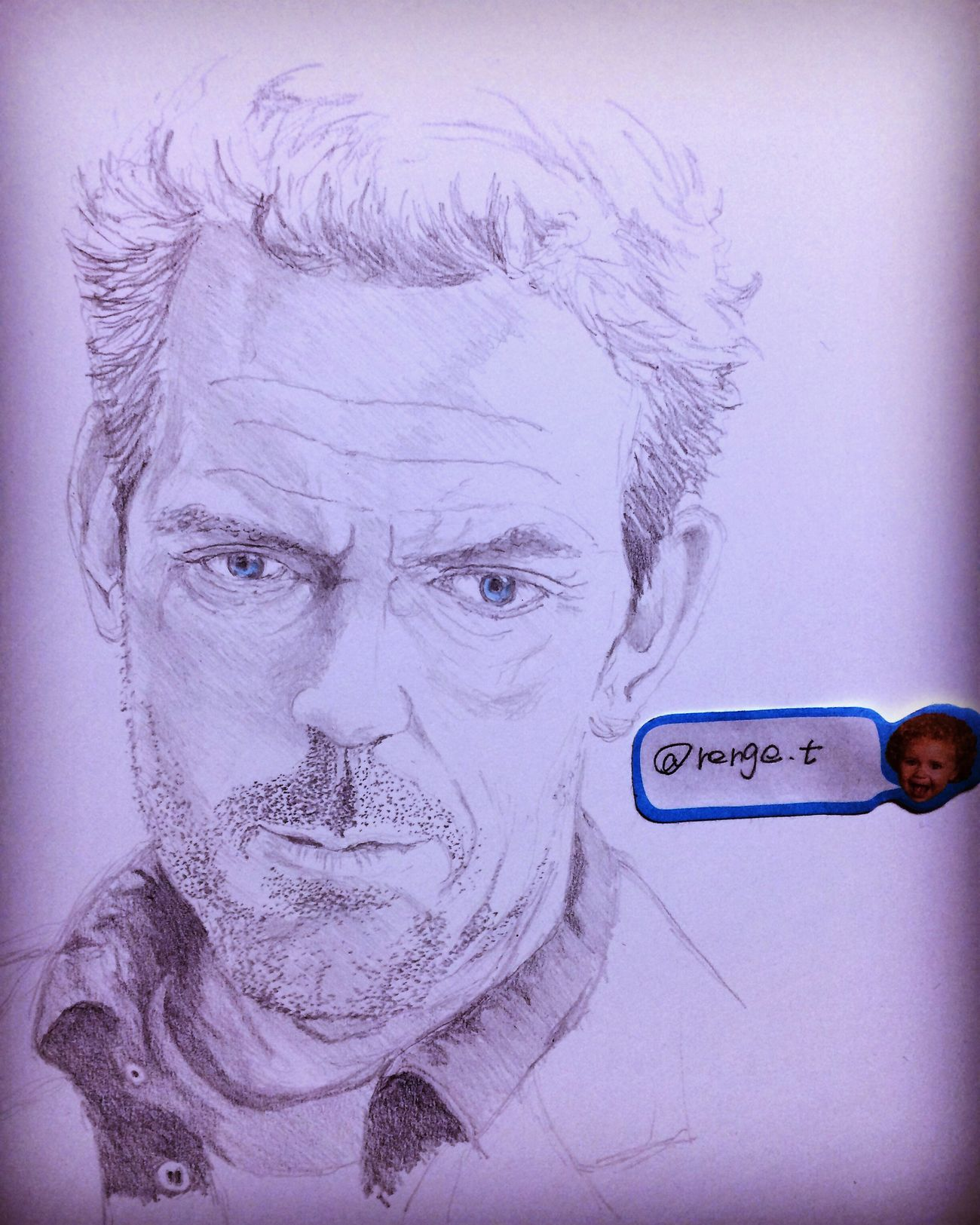 MyDrawing Art, Drawing, Creativity Hello World ArtWork Drawing Hugh Laurie ドクターハウス Dr House ヒューローリー