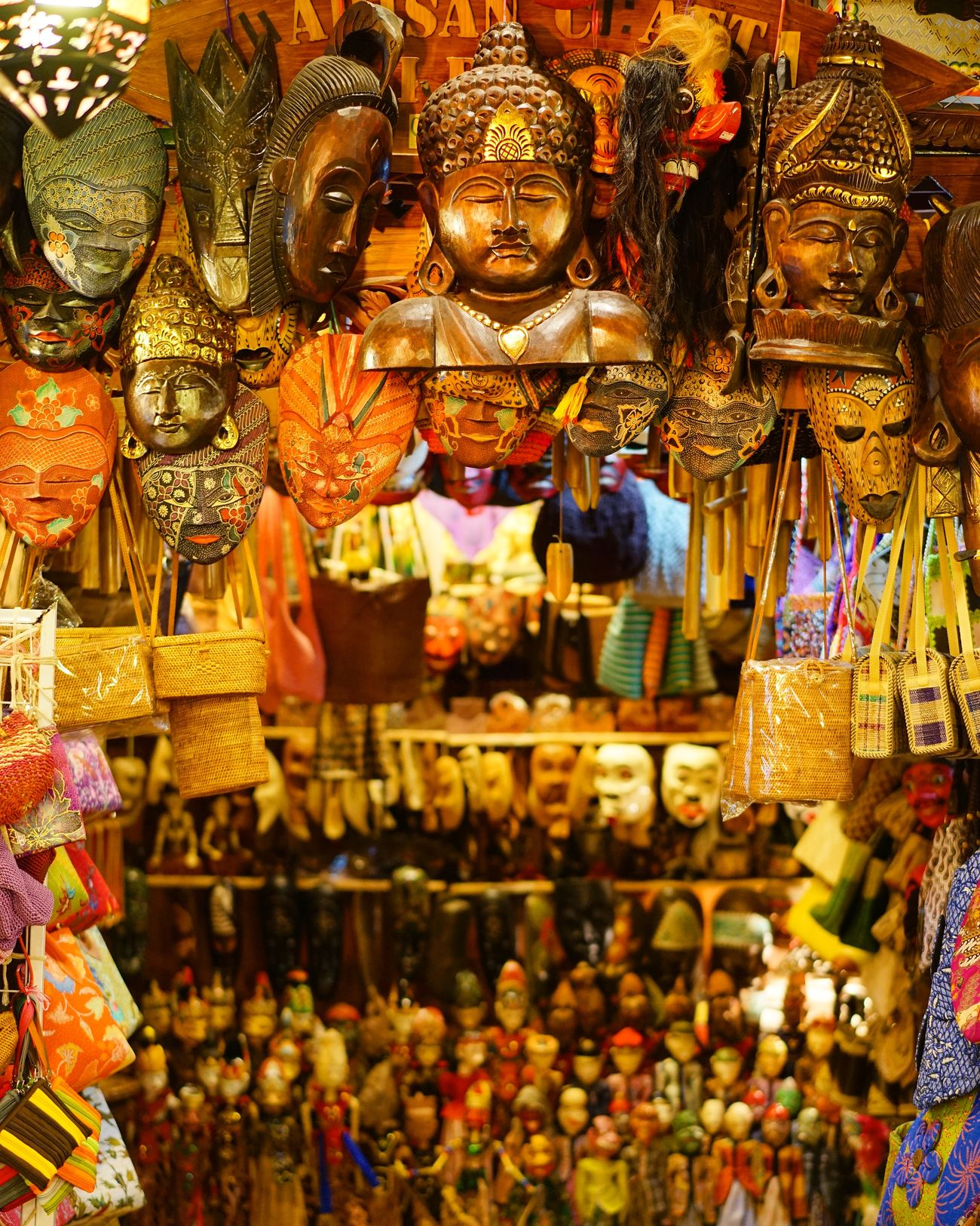 Masks Market Malaysia Colors Vintage Native Beautiful Store Travel