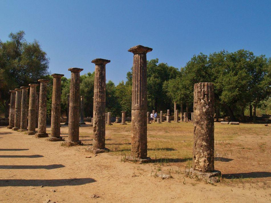 Ancient Architecture Ancient Olympia Architectural Column Olympic Games Peloponnese Greece Sanctum Spirit Travel Destinations Visit Ancient OLYMPIA Visit Greece