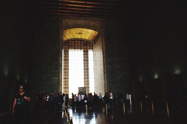 Turkey Large Group Of People Indoors  Person Tourism Crowd Travel Destinations Arch City Life International Landmark Kurtulussavasi War Anıtkabir Famous Place Vacations Day National Landmark Modern History
