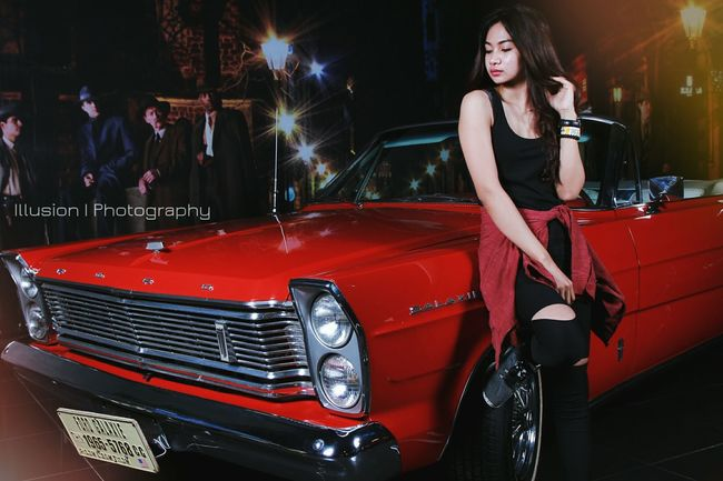 What should I do.. Car Red Ford Galaxy500 Model Shoot Girl Talent Photoshoot Photography Photooftheday Canon7d  Studiophotography