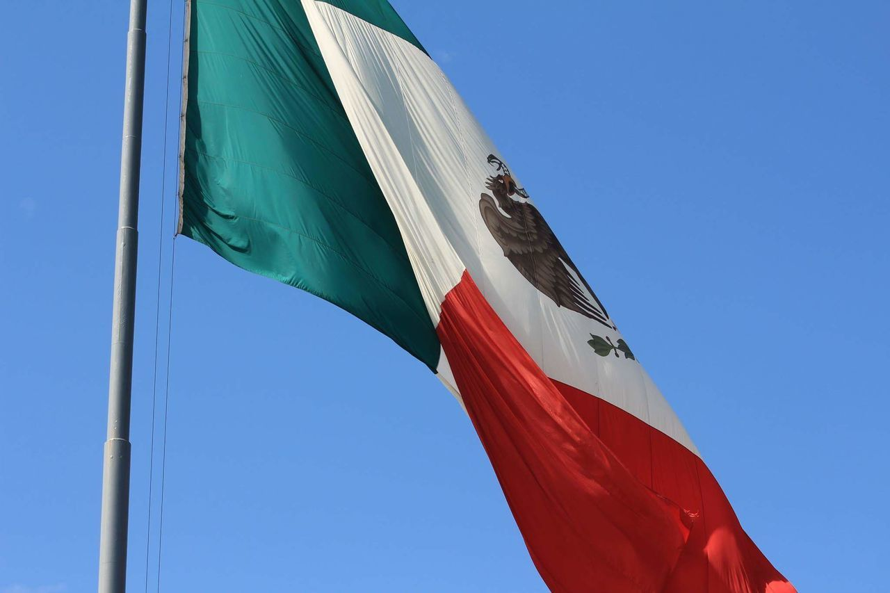 Beautiful stock photos of mexican flag,  Blue,  Clear Sky,  Day,  Flag