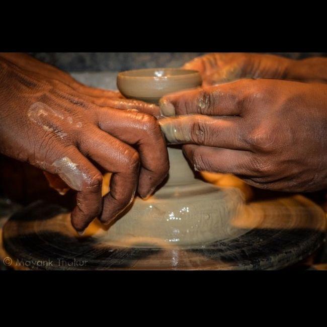 """Pottery Making"" Pottery Clay Spinning Wheel Rajasthan Art Puneclickarts @natgeocreative @natgeo @natgeoyourshot @thephotosociety @MyPixelDiary"