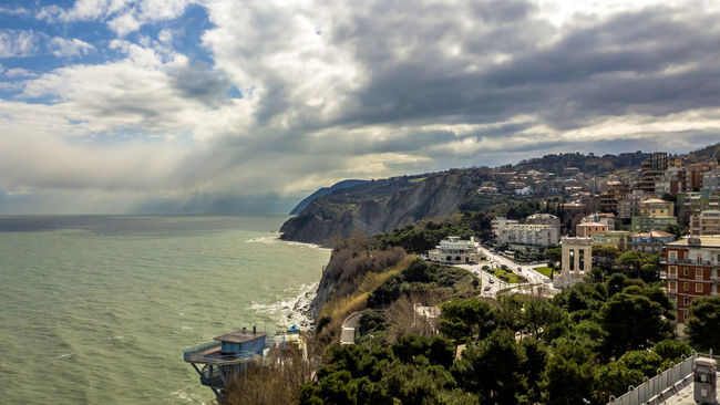 Ancona Beauty In Nature City Cityscape Cloud Cloud - Sky Cloudy Coastline Day Idyllic Italia Marche Mountain Nature No People Outdoors Overcast Residential District Scenics Sea Sky Tranquil Scene Tranquility Water Weather