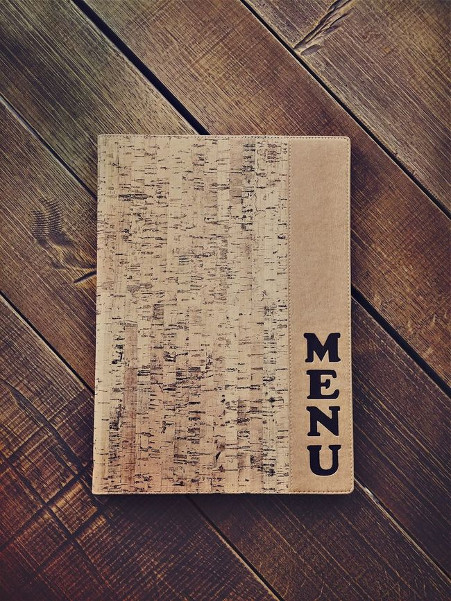 Bar Book Close-up Closed Cover Design Eye4photography  Information IPhoneography Iphoneonly List Menu No People Ordering Ordering Food Restaurant Service Table Wooden Wooden Texture