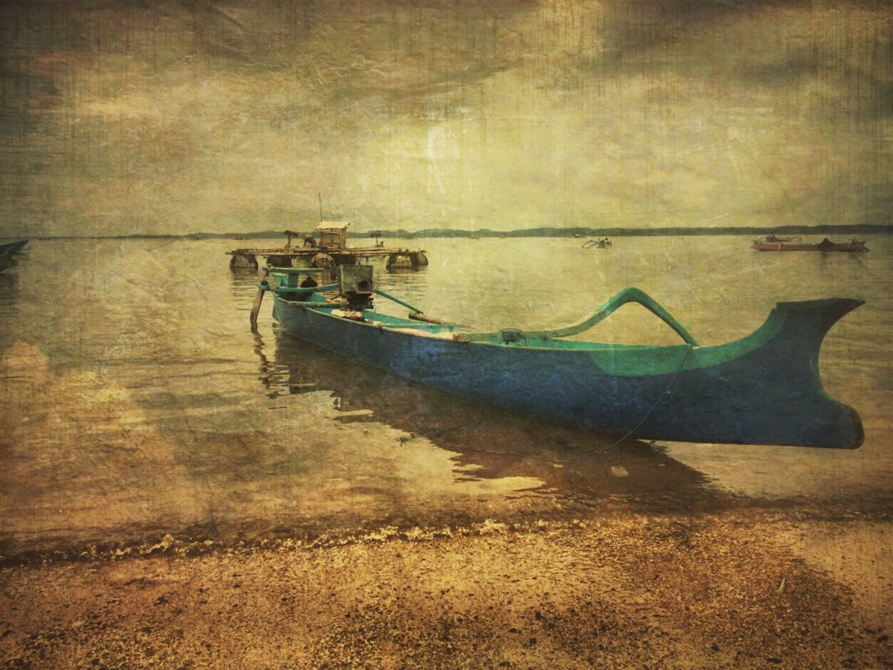 A blue boat Transportation Nautical Vessel No People Outdoors Day Painting ArtWork Popular Photos From My Point Of View Blueboat Oldpaint Oldphoto Mode Of Transport Transportation