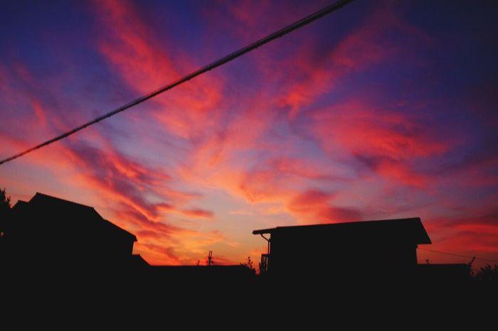 燃える Sunset Sky Burning Japan Sakai Evening Red Twilight Sky Twilight Still Life Nopeople Beautiful Relaxing