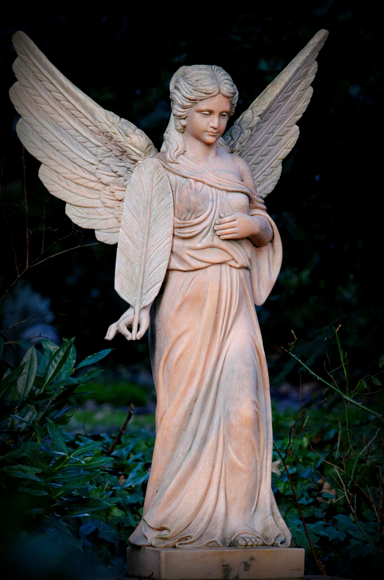 Angel Graveyard Graveyard Beauty Melaten One Woman Only Outdoors Religion Sculpture Statue Wings Women No People No Humans