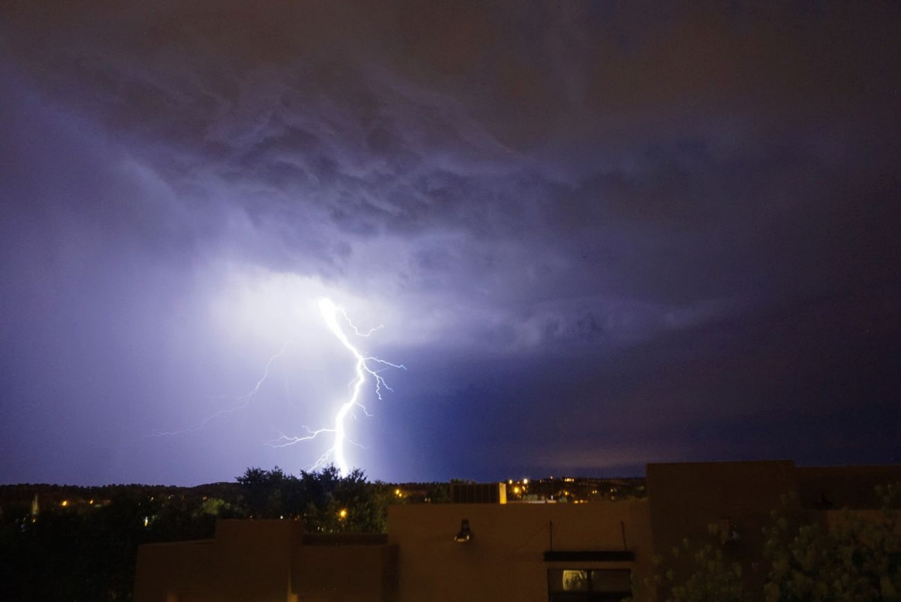 The storms in santa fe have been fantastic this last week Lightning Lightning Storm Lightning Bolt Santa Fe New Mexico Storm Thunderstorm Traveling Bike Tour Light Up The Sky Light Up Your World Nightphotography Sony A6000 No People Adobe