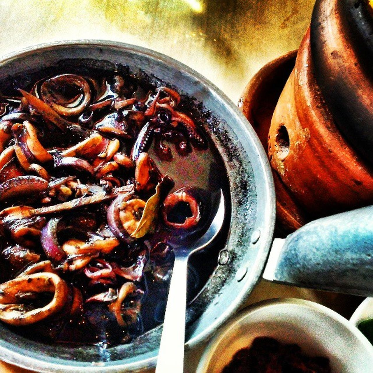 Adobong Pusit... It's Truly A Lot Yummier In The Philippines! at Barrio Fiesta BarrioFiesta Flipcuisine Philippines