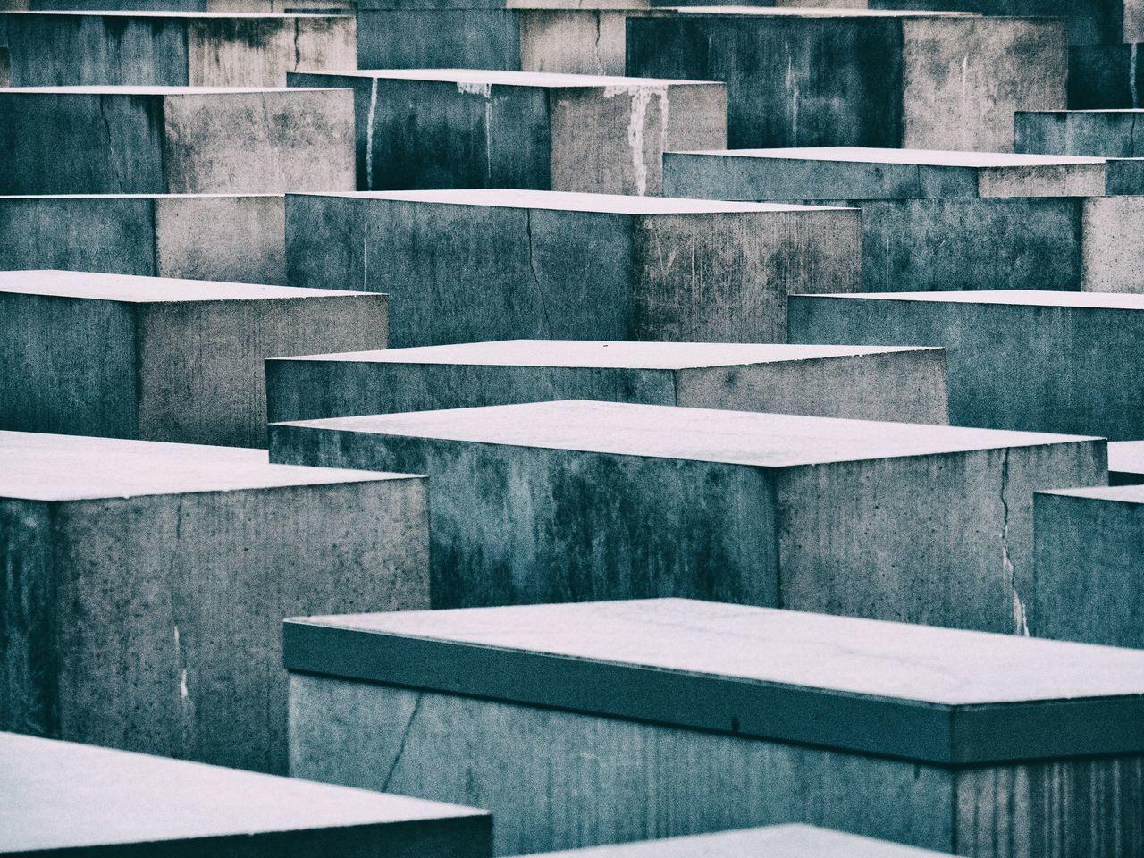 Abstract Architecture Berlin Blocks Concrete Cracks Holocaust Holocaust Memorial Lines Memorial No People Stele Stelenfeld Stone Texture