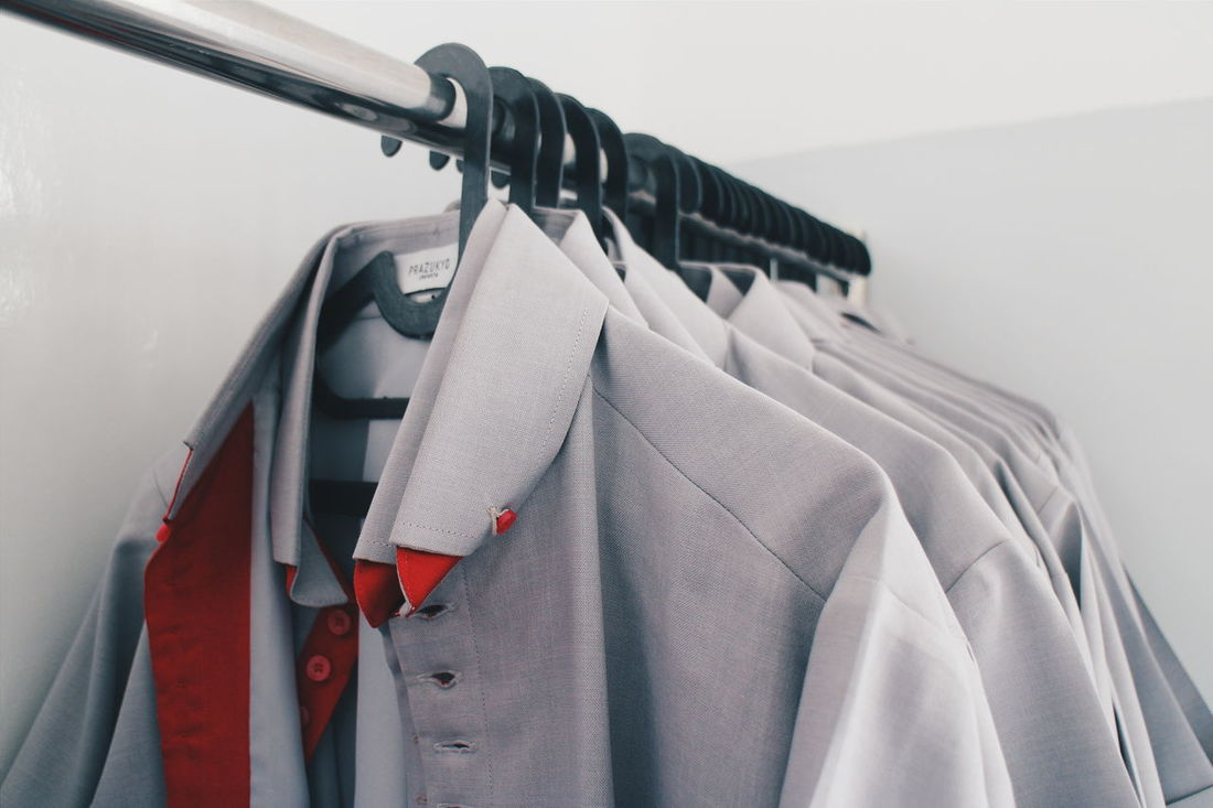 Hangers Hanger Uniform Uniforms Collar Shirts Shirt Grey Shirts Grey Showcase: February Unbuttoned Shirt Everything In Its Place