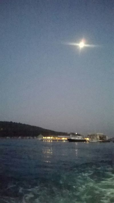 Hi! Relaxing Moon Light Nightphotography Sea View Island Nature Istanbul Adalar