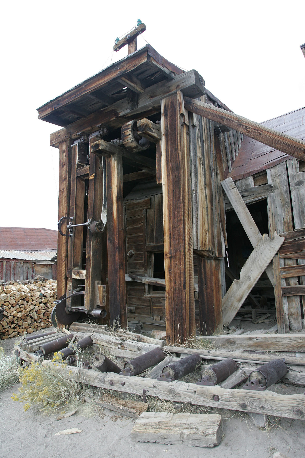 This is the gold mining structure at ghost town of Bodie. Abandoned Architecture Bad Condition Broken Built Structure Damaged Day Deterioration No People Obsolete Old Outdoors Ruined Run-down Sky The Old West The Past Weathered Wood Wood - Material Wooden