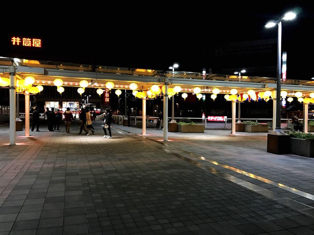 Japan Night Illuminated Architecture Built Structure City Building Exterior Travel Destinations Women Outdoors Large Group Of People People Adults Only Adult Sky Kurosaki Kitakyushu Kanji