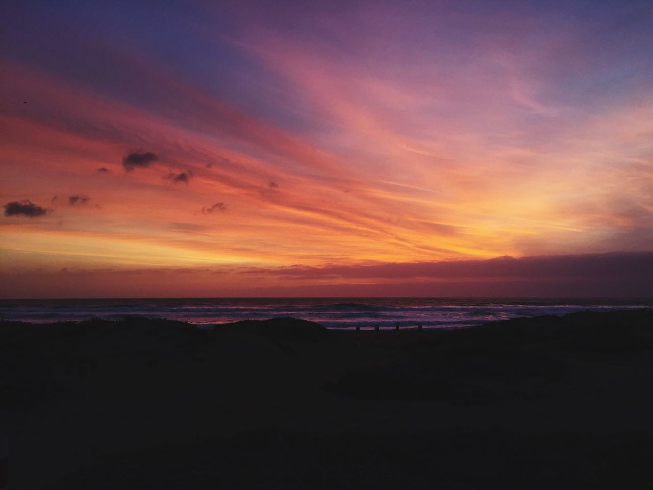 Sunset Sea Beauty In Nature Nature Orange Color Scenics Sky Horizon Over Water Beach Water Tranquility No People Outdoors Sunrise EyeEmNewHere