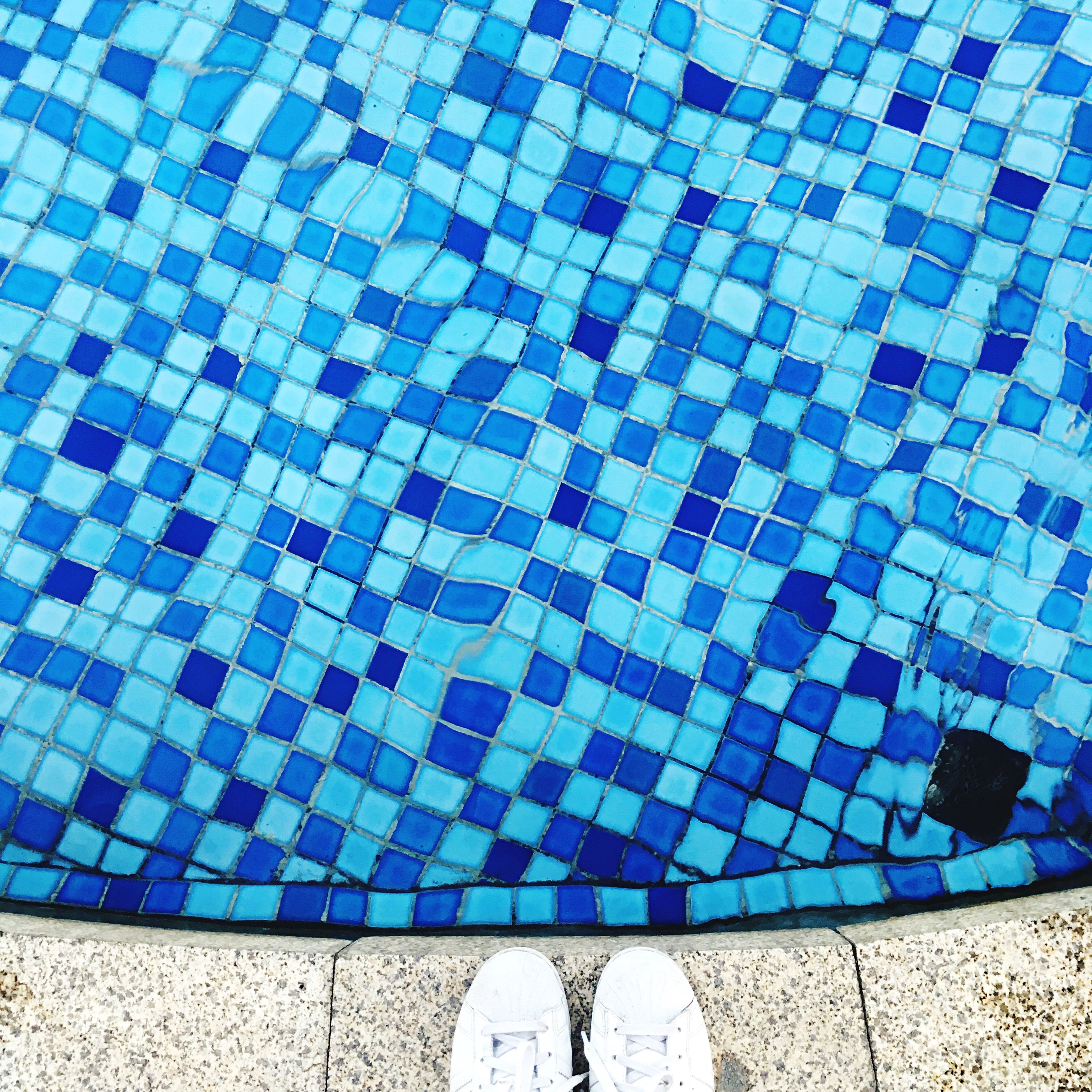 tiled floor, pattern, tile, blue, flooring, design, full frame, backgrounds, geometric shape, multi colored, repetition, no people, day, close-up, checked pattern, side by side