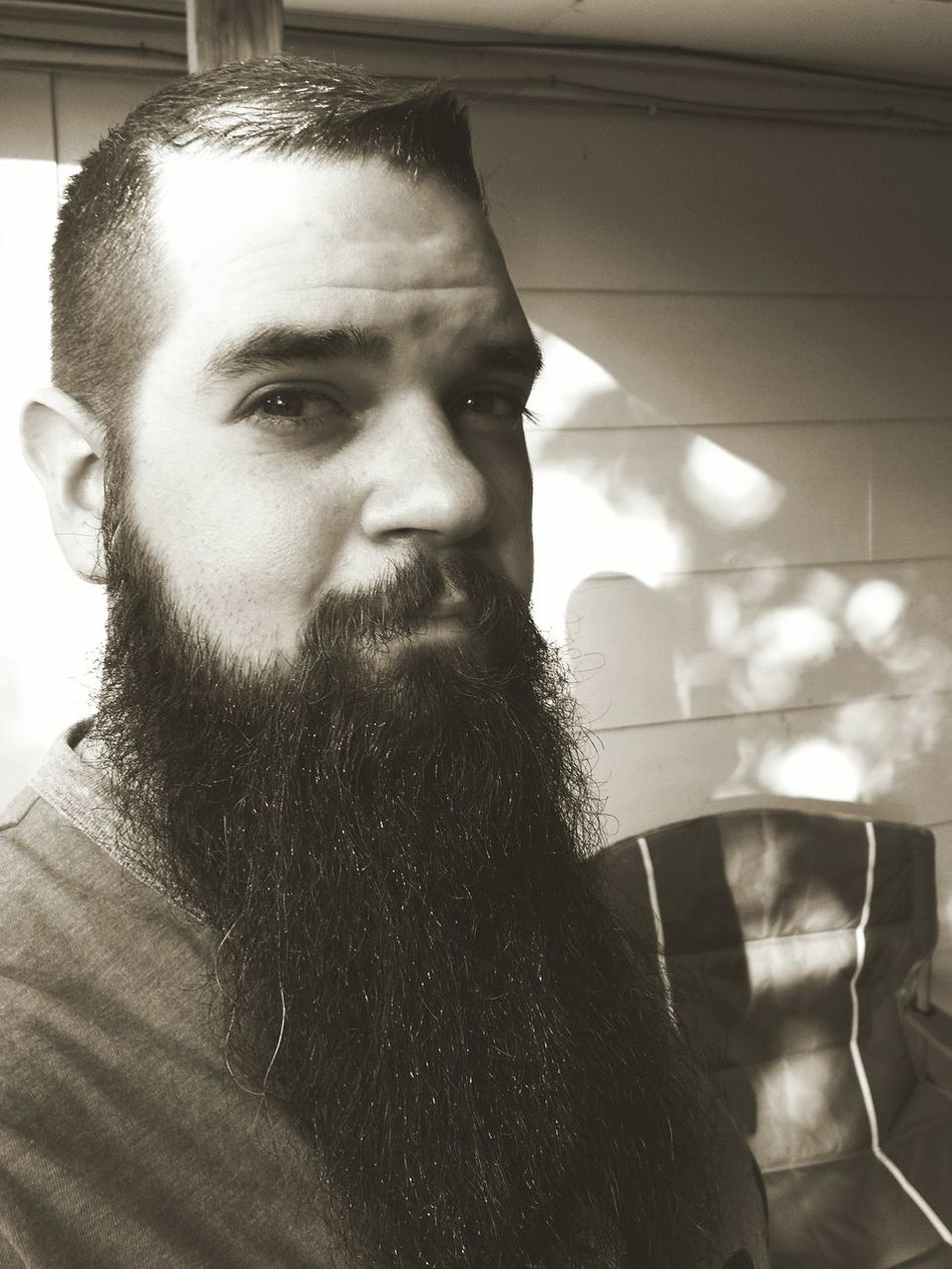 Beard Only Men Portrait Facial Hair One Man Only Day Bearded Looking At Camera Outdoors Black And White Photography Black And White Portrait Selfie Time
