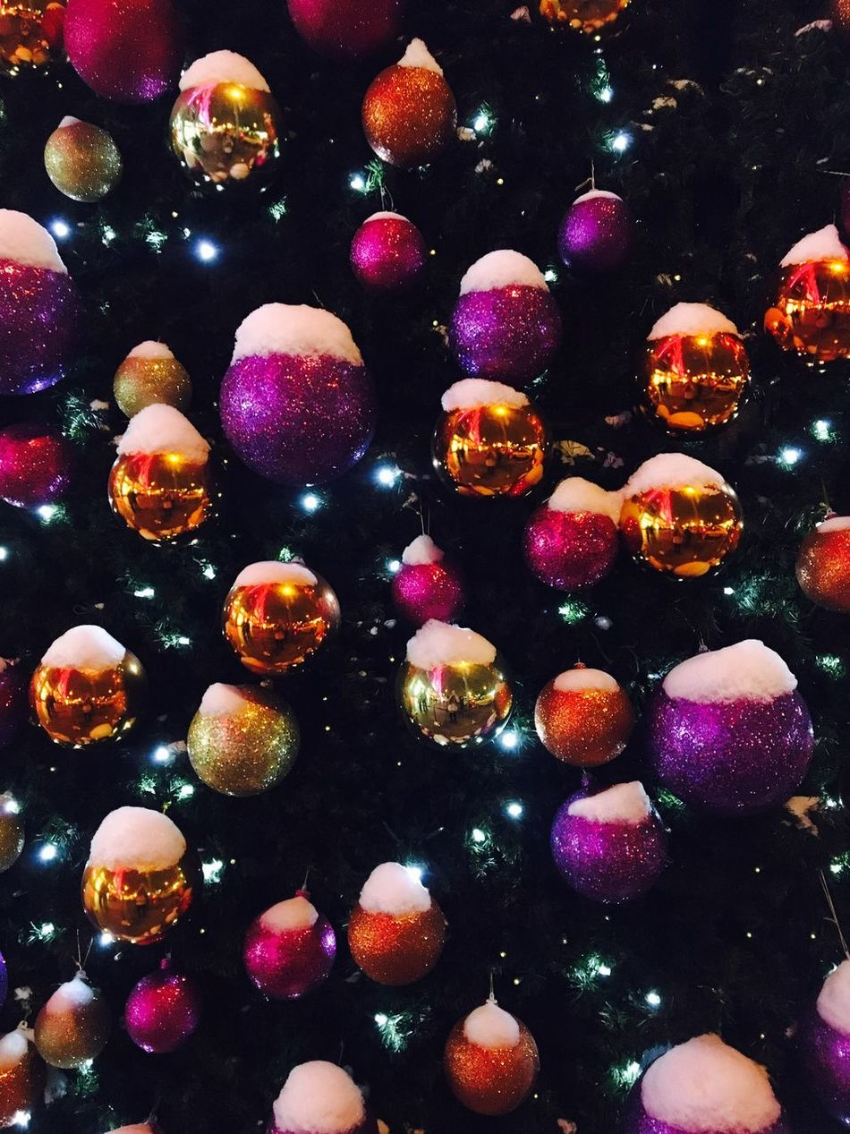 Multi Colored Full Frame Backgrounds Close-up No People Outdoors Day Christmas Tree Christmas Decoration Christmas Around The World Colourful