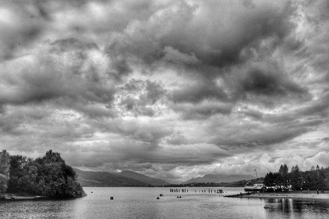 LochLomond near Glasgow  Scotland Cloud - Sky Tranquility Nature Mountain Landscape Fujifilm X100t Blackandwhite Iphoneedit