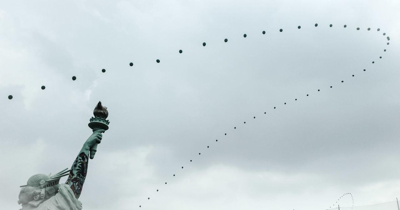 Music Festival Lady Liberty gov ball Balloons concert Randallsisland New York City Rock Manhattan