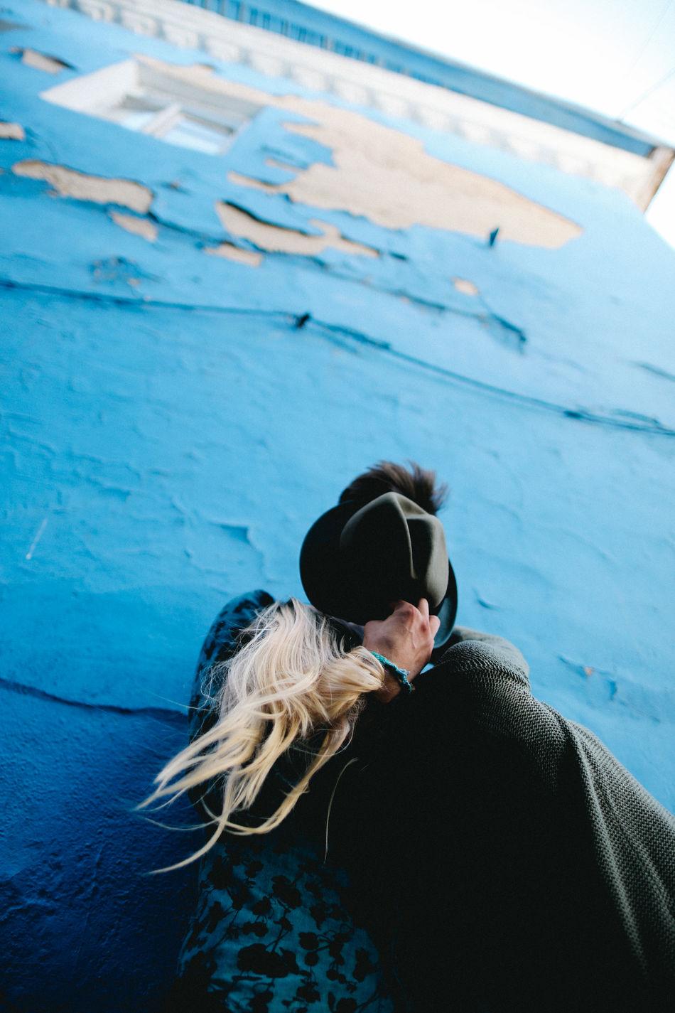 Beautiful stock photos of street photography, Blue, Bonding, Casual Clothing, Couple - Relationship