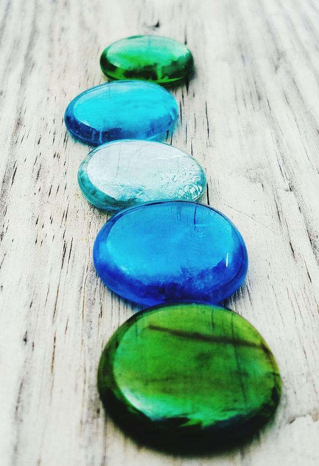 Cerulean Blue Intensity Stones Wood Grain Jewels Bright Green Balance AndroidPhotography EyeEm Best Shots Eyem Gallery Shiny Cellphone Photography