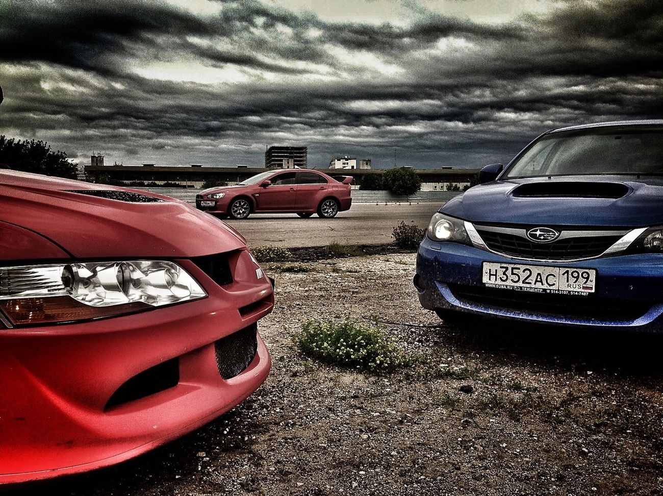 Car Subaru Mitsubishi Evo Evolution Viii