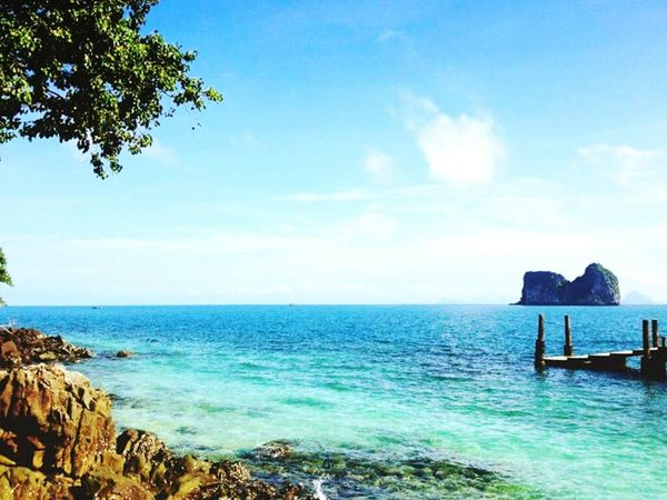 when I think of summer vacation in Thailand 🍹⛅🌊 I think of South Islands Andaman Sea Diving Sea Sand Sun Check This Out Relaxing Enjoying The View at Koh Ngai island, southern Thailand😊